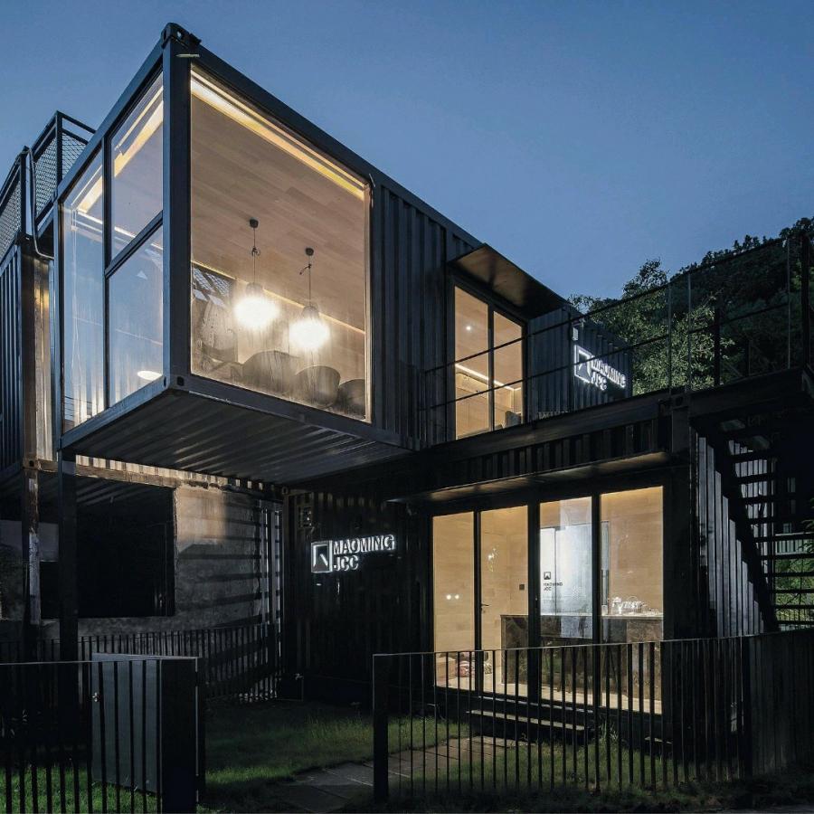 酷创汇专业定制集装箱建筑,有院子的集装箱办公室