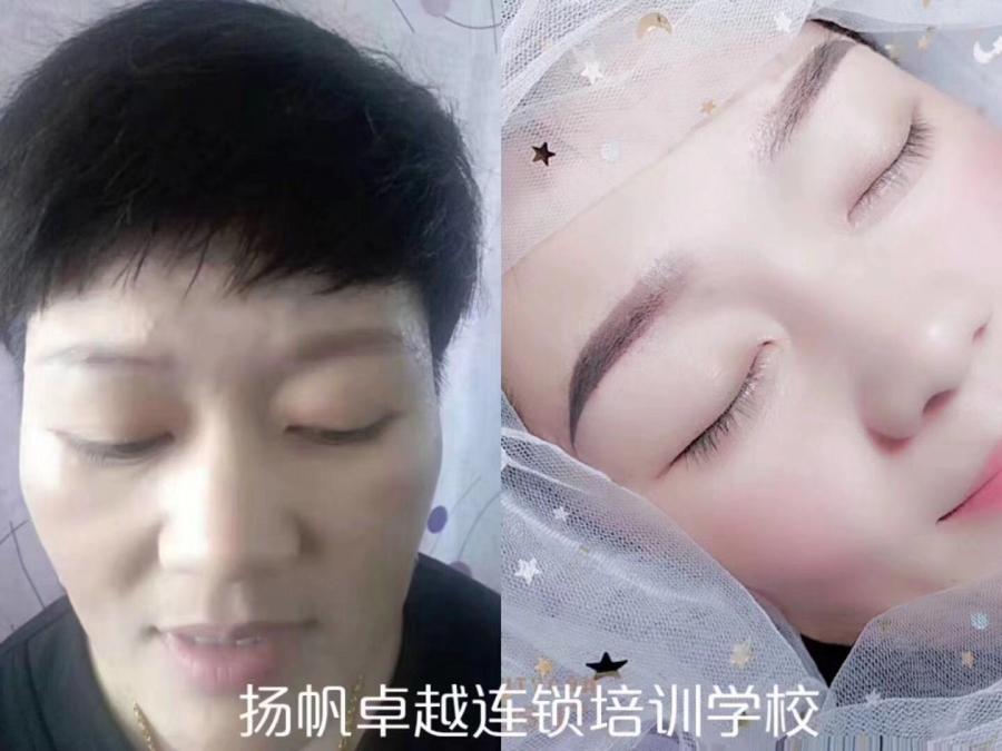 山东济南韩式半永久眉部 眼部 唇部 发际线美甲一体培训