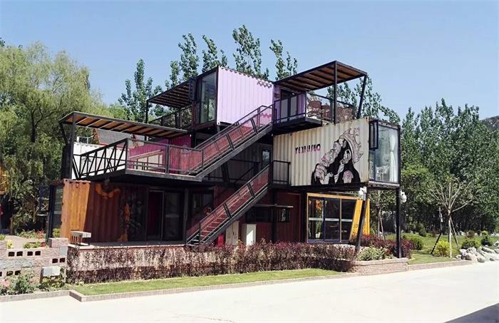 酷创汇专业设计打造集装箱营销中心,集装箱餐厅,集装箱办公室
