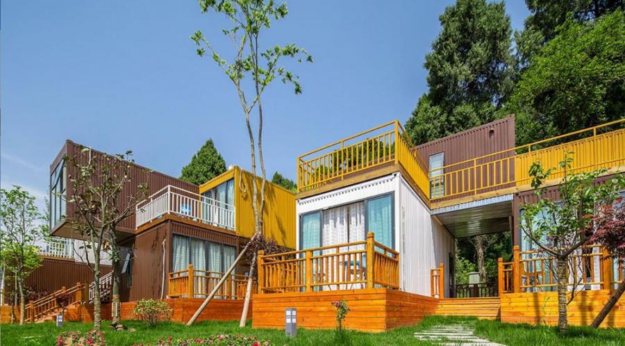 广州酷创汇设计打造集装箱旅游区,集装箱度假村,集装箱民宿
